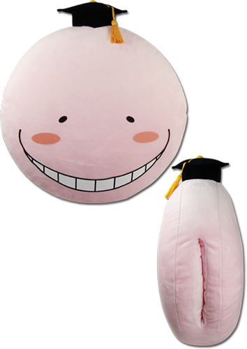 Assassination Classroom - Koro Pink Warm Hand Pillow, an officially licensed product in our Assassination Classroom Pillows department.