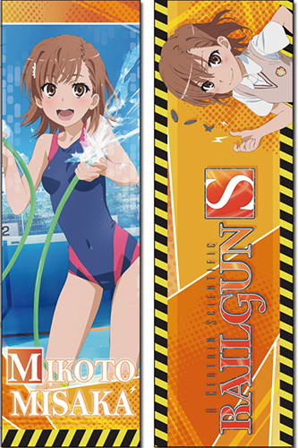 Railgun S - Mikoto Body Pillow officially licensed Railgun S Pillows product at B.A. Toys.