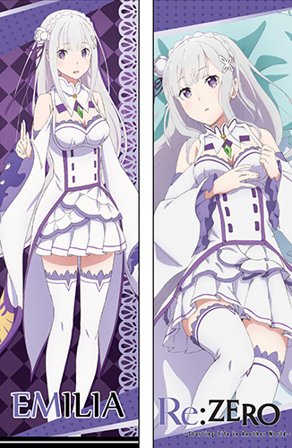 Re:Zero - Emilia Body Pillow officially licensed Re:Zero Pillows product at B.A. Toys.