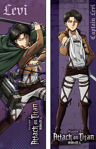 Attack On Titan S2 - Levi Body Pillow, an officially licensed Attack On Titan product at B.A. Toys.