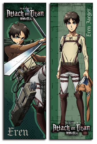 Attack On Titan S2 - Eren Body Pillow, an officially licensed Attack On Titan product at B.A. Toys.
