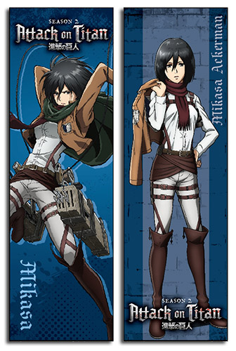 Attack On Titan S2 - Mikasa Body Pillow, an officially licensed product in our Attack On Titan Pillows department.