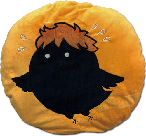 Haikyu!! - Hinata Crow Round Shaped Throw Pillow officially licensed Haikyu!! Pillows product at B.A. Toys.