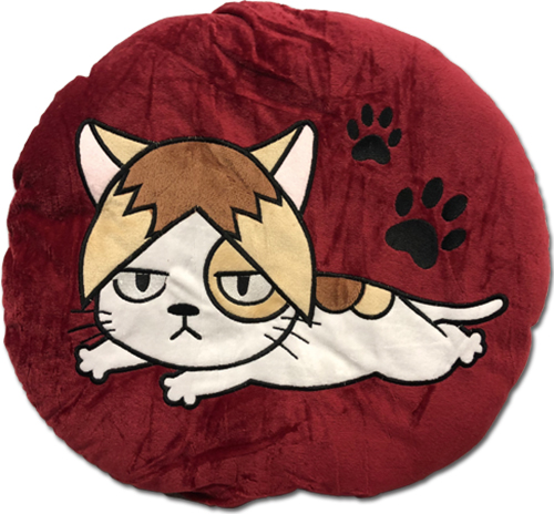 Haikyu!! - Kozume Cat Round Throw Pillow, an officially licensed product in our Haikyu!! Pillows department.