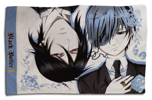 Black Butler Ii - Ciel & Sebastian Pillow Case, an officially licensed product in our Black Butler Pillows department.