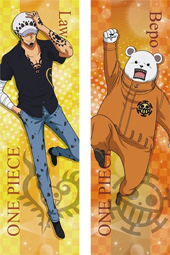 One Piece - Law & Bepo Body Pillow Case officially licensed One Piece Pillows product at B.A. Toys.