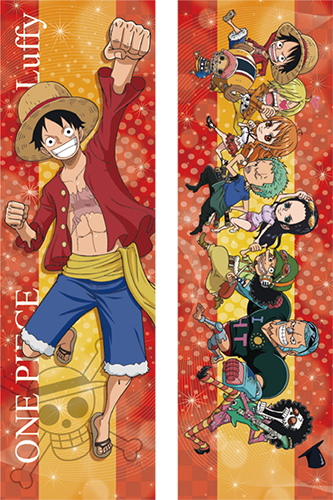 One Piece - Luffy & Sd Partners Body Pillow Case officially licensed One Piece Pillows product at B.A. Toys.