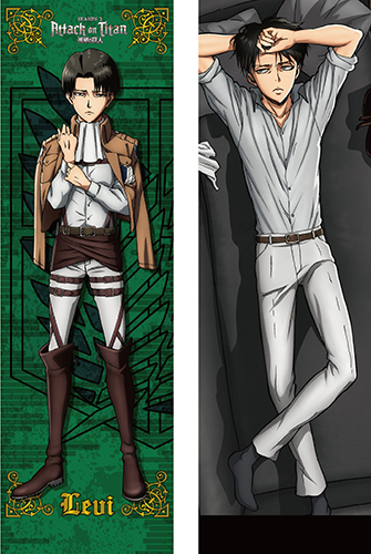 Attack On Titan - Levi Body Pillow Case, an officially licensed Attack On Titan product at B.A. Toys.