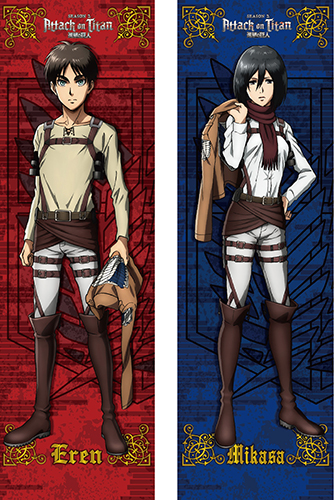 Attack On Titan - Eren & Mikasa Body Pillow Case, an officially licensed product in our Attack On Titan Pillows department.
