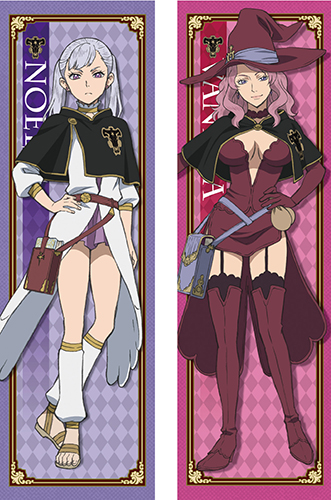 Black Clover - Noelle& Vanessa Body Pillow Case officially licensed Black Clover Pillows product at B.A. Toys.