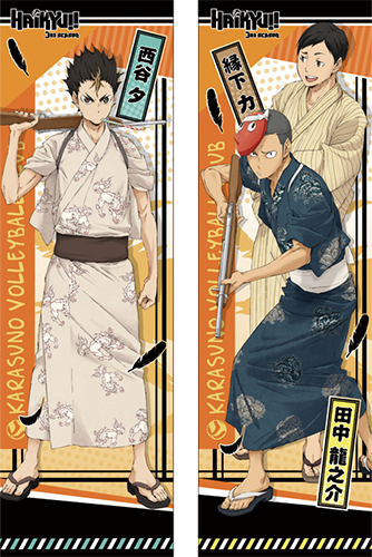 Haikyu!! - Yuu, Chikara, Ryunosuke Body Pillow Case officially licensed Haikyu!! Pillows product at B.A. Toys.