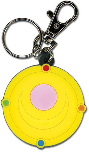 Sailormoon Moon Brooch Pvc Keychain, an officially licensed product in our Sailor Moon Key Chains department.