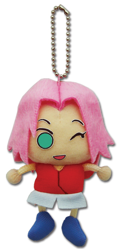 Naruto Shippuden Sakura Plush Keychain, an officially licensed product in our Naruto Shippuden Key Chains department.
