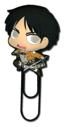 Attack On Titan - Sd Eren Pvc Paper Clip, an officially licensed product in our Attack On Titan Costumes & Accessories department.
