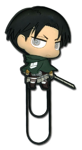 Attack On Titan - Sd Levi Pvc Paper Clip, an officially licensed Attack On Titan product at B.A. Toys.