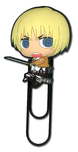 Attack On Titan - Sd Armin Pvc Paper Clip officially licensed Attack On Titan Stationery product at B.A. Toys.
