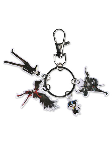 Persona 5 - Protagonist, Arsene, Morgana & Zorro Metal Keychain, an officially licensed product in our Persona Key Chains department.