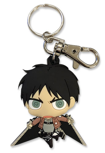 Attack On Titan S2 - Sd Eren Pvc Keychain, an officially licensed product in our Attack On Titan Key Chains department.