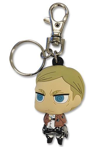 Attack On Titan S2 - Sd Erwin Pvc Keychain, an officially licensed product in our Attack On Titan Key Chains department.