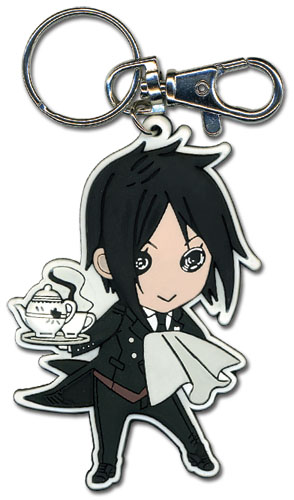 Black Butler Sebastian Sd Pvc Keychain, an officially licensed Black Butler product at B.A. Toys.