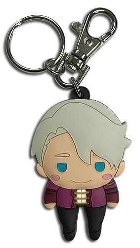 Yuri On Ice!!! - Sd Pinched Victor Pvc Keychain, an officially licensed product in our Yuri!!! On Ice Key Chains department.