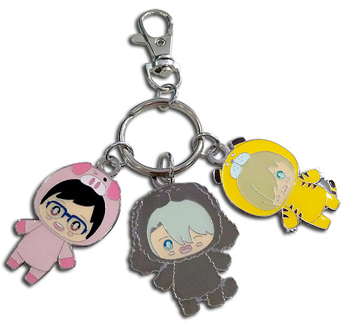 Yuri On Ice - Sd Costume Pajamas Metal Keychain, an officially licensed product in our Yuri!!! On Ice Key Chains department.