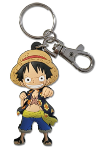 One Piece - Luffy Pvc Keychain officially licensed One Piece Key Chains product at B.A. Toys.