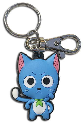 Fairy Tail - S8 Sd Happy Pvc Keychain, an officially licensed product in our Fairy Tail Key Chains department.