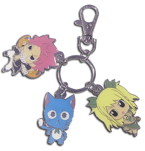 Fairy Tail - S8 Sd Trio Metal Keychain, an officially licensed product in our Fairy Tail Key Chains department.