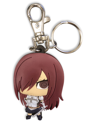 Fairy Tail - S7 Sd Erza Pvc Keychain, an officially licensed product in our Fairy Tail Key Chains department.