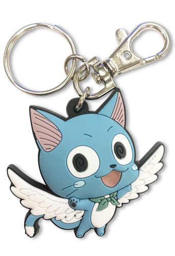Fairy Tail - S7 Sd Happy Pvc Keychain, an officially licensed product in our Fairy Tail Key Chains department.