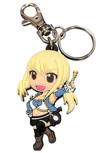 Fairy Tail - S7 Sd Lucy Set 2 Pvc Keychain, an officially licensed product in our Fairy Tail Key Chains department.