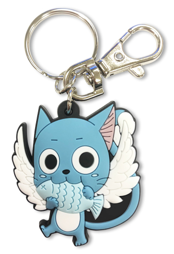 Fairy Tail - S7 Sd Happy Set 2 Pvc Keychain, an officially licensed product in our Fairy Tail Key Chains department.