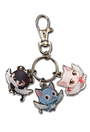 Fairy Tail - Sd Group 03 Metal Keychain, an officially licensed product in our Fairy Tail Key Chains department.