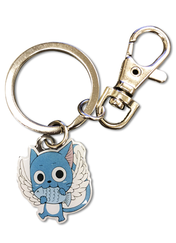 Fairy Tail - Sd Happy Set 2 Metal Keychain, an officially licensed product in our Fairy Tail Key Chains department.