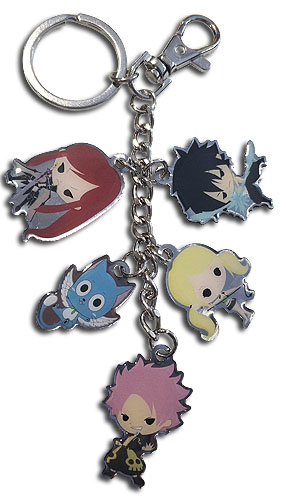 Fairy Tail - S8 Sd 5 Charm Metal Keychain officially licensed Fairy Tail Mugs & Tumblers product at B.A. Toys.