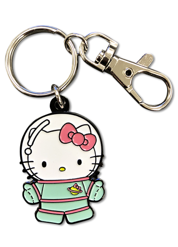 Hello Kitty - Hello Kitty Spaceman Enamel Metal Keychain, an officially licensed product in our Hello Kitty Key Chains department.