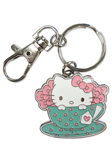 Hello Kitty - Tea Time Hello Kitty Enamel Metal Keychain, an officially licensed product in our Hello Kitty Key Chains department.