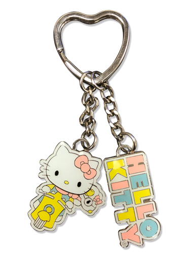 Hello Kitty - Adventure Enamel Kitty Metal Multi Keychain, an officially licensed product in our Hello Kitty Key Chains department.