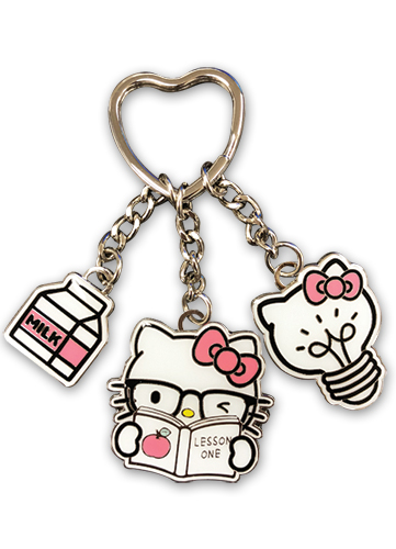 Hello Kitty -smart Hello Kitty Enamel Metal Multi-keychain officially licensed Hello Kitty Pins & Badges product at B.A. Toys.