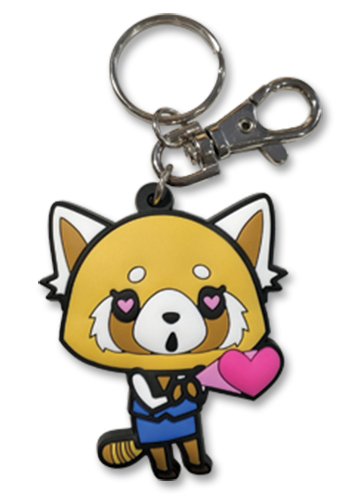 Aggretsuko - In Love Pvc Keychain, an officially licensed product in our Aggretsuko Key Chains department.