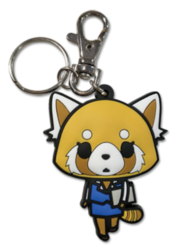 Aggretsuko - Working Pvc Keychain, an officially licensed Aggretsuko product at B.A. Toys.