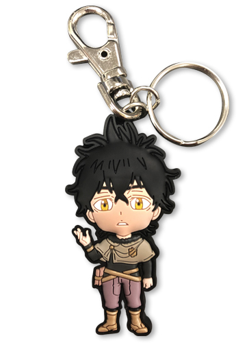 Black Clover - Sd Yuno Pvc Keychain, an officially licensed product in our Black Clover Key Chains department.