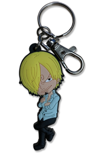 One Piece - Sanji Pvc Keychain 2.5'' officially licensed One Piece Key Chains product at B.A. Toys.