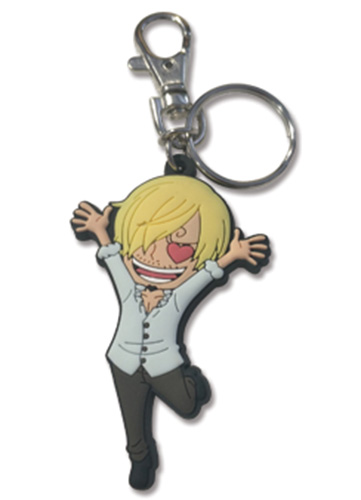 One Piece - Sanjin Love Pvc Keychain officially licensed One Piece Key Chains product at B.A. Toys.