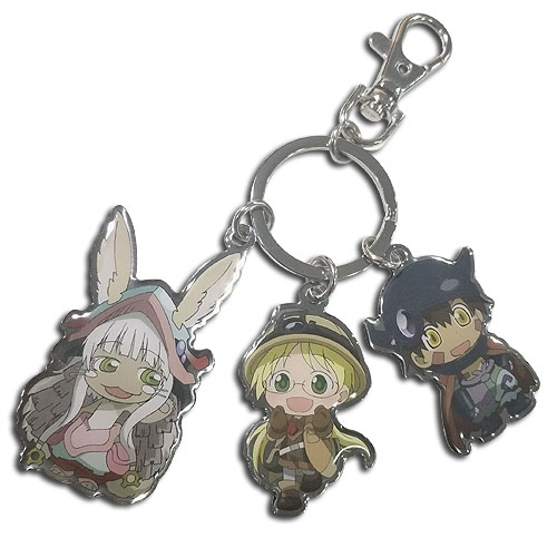 Made In Abyss - Trio Metal Keychain, an officially licensed product in our Made In Abyss Key Chains department.