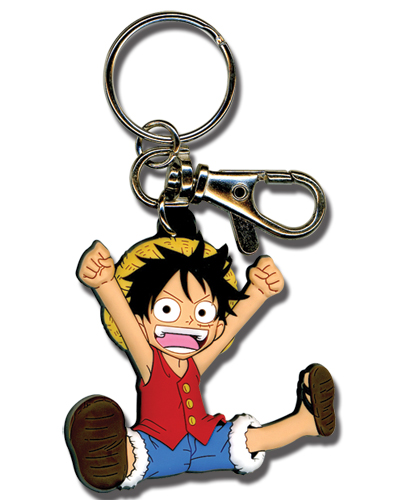 One Piece Sd Luffy Pvc Keychain, an officially licensed product in our One Piece Key Chains department.