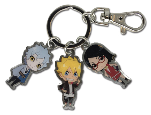 Boruto - Main 3 Multi Metal Keychain, an officially licensed Boruto product at B.A. Toys.