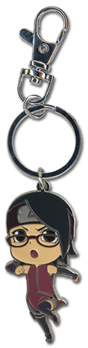 Boruto - Sarada Metal Keychain, an officially licensed product in our Boruto Key Chains department.