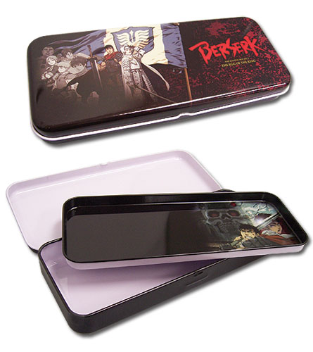 Berserk Band Of The Hawk Tin Pencil Case, an officially licensed Berserk product at B.A. Toys.